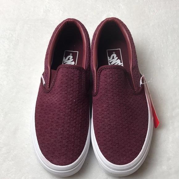 bd0740652c91 Vans classic slip on suede embossed weave shoes